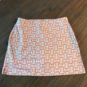 EP Pro size 16 white & orange butterfly skort